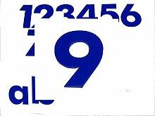 Hausnummer 9 BLAU - HÖHE: 65mm, 3mm dick (KEINE