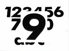 Hausnummer 9 SCHWARZ - HÖHE: 65mm, 3mm dick
