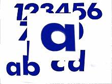 Hausnummer a BLAU - HÖHE: 65mm, 3mm dick (KEINE
