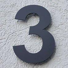 Hausnummer Acryl Anthrazit Grau Matt 4 mm RAL: