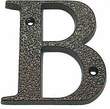 Hausnummer aus Aluminium, 120 mm, antik, B