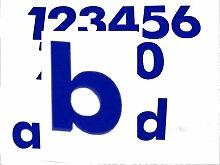 Hausnummer b BLAU - HÖHE: 65mm, 3mm dick (KEINE