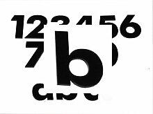 Hausnummer b SCHWARZ - HÖHE: 65mm, 3mm dick