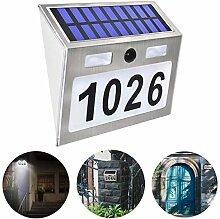 Hausnummer Beleuchtete Solar mit 5 LEDs,