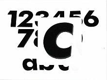 Hausnummer c SCHWARZ - HÖHE: 65mm, 3mm dick
