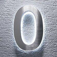 Hausnummer Edelstahl - indirekte LED-Beleuchtung -