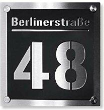 Hausnummer - Edelstahl massiv & nicht rostend -