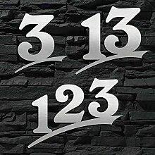 Hausnummer Edelstahl Sonderanfertigung (3-stellig