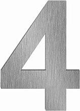 Hausnummer Edelstahl Zahl 4 Vier Höhe 170 mm
