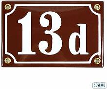 Hausnummer Emaille 10x15 cm mit Hausnummernschild