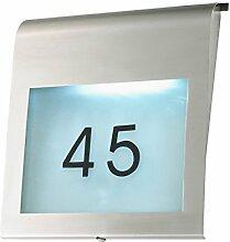 Hausnummer FERDINAND LED Wandlampe Wandleuchte Außenleuchte Nummer