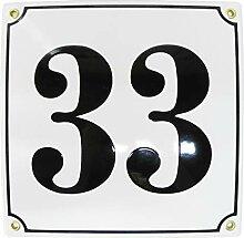 Hausnummer Hausnummernschild 20x20 cm mit