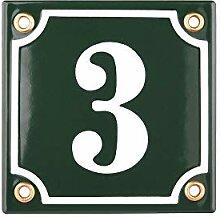 Hausnummer Hausnummernschild Emaille 10x10 cm mit