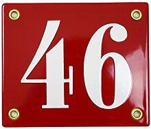 Hausnummer Hausnummernschild Emaille 10x12 cm mit