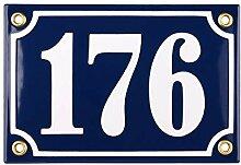 Hausnummer Hausnummernschild Emaille 10x15 cm mit