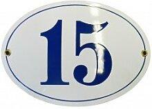 Hausnummer Hausnummernschild Emaille 10x15 cm Oval