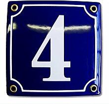 Hausnummer Hausnummernschild Emaille 12x12 cm mit