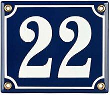 Hausnummer Hausnummernschild Emaille 12x14 cm mit