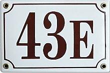 Hausnummer Hausnummernschild Emaille 12x17 cm mit