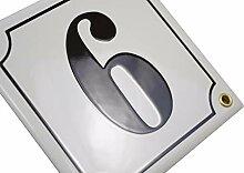 Hausnummer Hausnummernschild Emaille 15x15 cm mit
