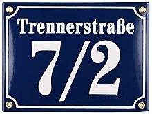 Hausnummer Hausnummernschild Emaille 15x20 cm mit