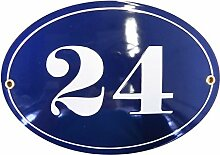 Hausnummer Hausnummernschild Emaille 15x21 cm Oval