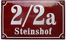 Hausnummer Hausnummernschild Emaille 15x25 cm mit