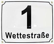 Hausnummer Hausnummernschild Emaille 20x25 cm mit