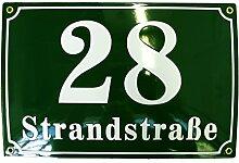 Hausnummer Hausnummernschild Emaille 20x30 cm mit