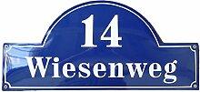 Hausnummer Hausnummernschild Emaille 24x50 cm mit