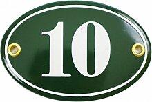 Hausnummer Hausnummernschild Emaille 7x10,5 cm
