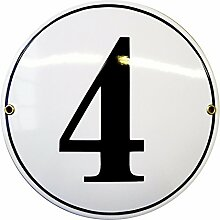 Hausnummer Hausnummernschild Emaille | Kreis Ø 20