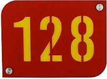 Hausnummer/Hausnummernschild Rot mit Wunschboden