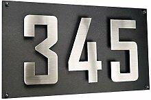 Hausnummer Hausschild DREISTELLIG Edelstahl