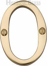 Hausnummer Heritage Brass Farbe: Messing, Nummer: 0