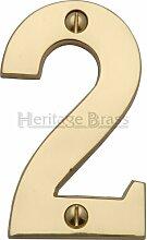 Hausnummer Heritage Brass Farbe: Messing, Nummer: 2