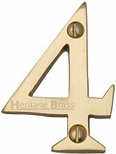 Hausnummer Heritage Brass Farbe: Messing, Nummer: 4