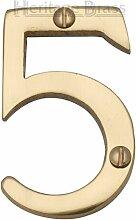 Hausnummer Heritage Brass Farbe: Messing, Nummer: 5