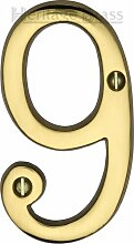 Hausnummer Heritage Brass Farbe: Messing, Nummer: 9