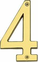 Hausnummer Heritage Brass Nummer: 4