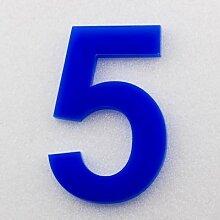 Hausnummer Hochglanz Acryl Blau RAL: 5H01 -