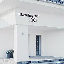 Hausnummer mit Straßenname aus Acrylglas ( 100cm