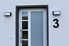 Hausnummer Satiniert Matt Acryl Schwarz RAL: 9005
