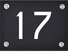 Hausnummer Schild 17 aus Acryl, Hausnummernschild