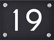 Hausnummer Schild 19 aus Acryl, Hausnummernschild