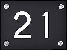 Hausnummer Schild 21 aus Acryl, Hausnummernschild