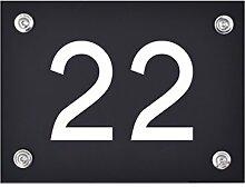 Hausnummer Schild 22 aus Acryl, Hausnummernschild