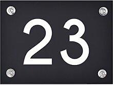 Hausnummer Schild 23 aus Acryl, Hausnummernschild