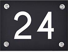 Hausnummer Schild 24 aus Acryl, Hausnummernschild