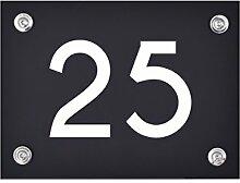 Hausnummer Schild 25 aus Acryl, Hausnummernschild